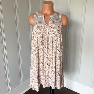 Mystree Boho Floral Sleeveless Tunic Shift Dress S